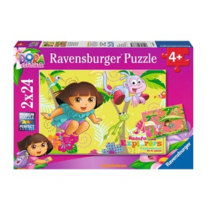 "Ravensburger (08877) - ""Dora in the Jungle"" - 24 piezas"