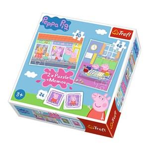 "Trefl (90600) - ""Peppa Pig + Memo"" - 30 48 piezas"