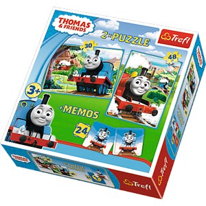 "Trefl (90602) - ""Thomas & Friends + Memo"" - 30 48 piezas"