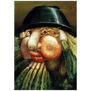 "Puzzle Michele Wilson (W97-12) - Giuseppe Arcimboldo: ""The Greengrocer"" - 12 piezas"