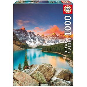 "Educa (17739) - ""Moraine Lake, Banff National Park, Canada"" - 1000 piezas"
