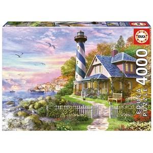"""Educa (17677) - Dominic Davison: """"Lighthouse in Rock Bay"""" - 4000 piezas"""