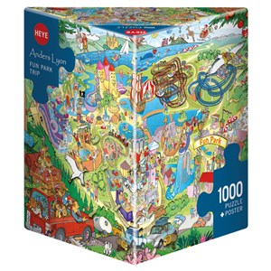 "Heye (29837) - Anders Lyon: ""Fun Park Trip"" - 1000 piezas"