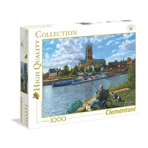 "Clementoni (39315) - Richard Harpum: ""Fishing With Oscar"" - 1000 piezas"