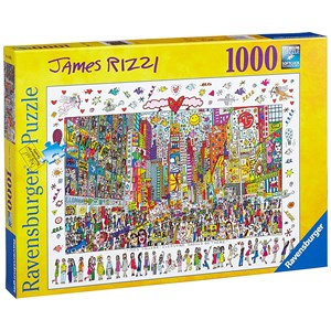 """Ravensburger (19069) - James Rizzi: """"Times Square, Everyone Should Go There"""" - 1000 piezas"""