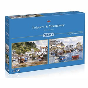 """Gibsons (G5019) - Terry Harrison: """"Mevagissey and Polperro"""" - 500 piezas"""