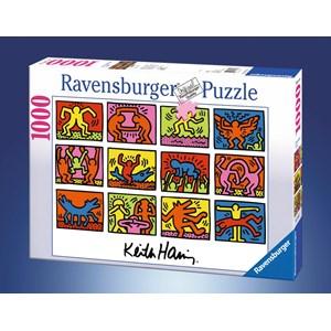 """Ravensburger (15615) - Keith Haring: """"Retrospective"""" - 1000 piezas"""