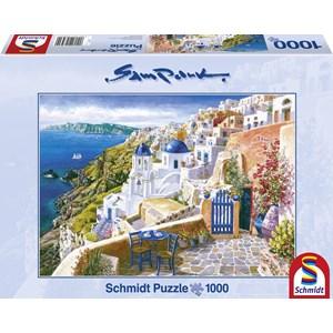 "Schmidt Spiele (58560) - Sam Park: ""Santorini"" - 1000 piezas"
