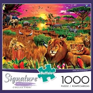 "Buffalo Games (1428) - Gerald Newton: ""African Evening"" - 1000 piezas"