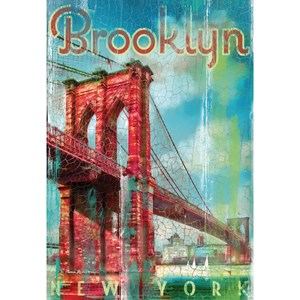 "Clementoni (37034) - Patrick Reid O'Brien: ""USA, New York, Brooklyn retro"" - 500 piezas"