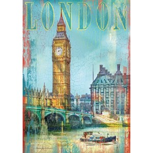 "Clementoni (37035) - Patrick Reid O'Brien: ""United Kingdom, London, Big Ben"" - 500 piezas"