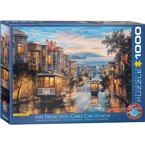 "Eurographics (6000-0957) - Eugene Lushpin: ""San Francisco Cable Car Heaven"" - 1000 piezas"