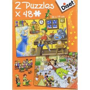 """Diset (69586) - """"Pinocchio and Gulliver"""" - 48 piezas"""