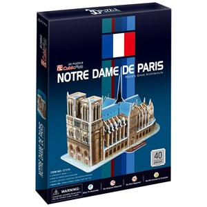 """Cubic Fun (C717H) - """"Our Lady of Paris"""" - 40 piezas"""