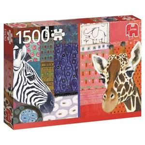 """Jumbo (18585) - Eugen Stross: """"African Art"""" - 1500 piezas"""