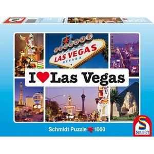 "Schmidt Spiele (59285) - ""I love Las Vegas"" - 1000 piezas"