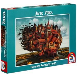 """Schmidt Spiele (59512) - Jacek Yerka: """"City on The Wing"""" - 1000 piezas"""
