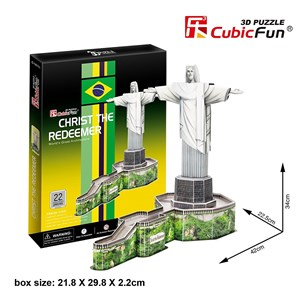 "Cubic Fun (C187H) - ""Christ The Redeemer, Brazil"" - 22 piezas"