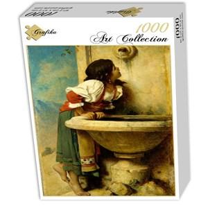 """Grafika (00453) - Leon Bonnat: """"Fille Romaine à la Fontaine, 1875"""" - 1000 piezas"""