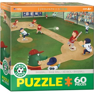 "Eurographics (6060-0484) - ""Junior League Baseball"" - 60 piezas"