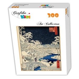 "Grafika Kids (00274) - Utagawa (Ando) Hiroshige: ""Drum bridge at Meguro and Sunset Hill, 1857"" - 300 piezas"