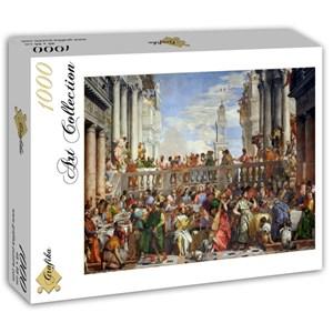 "Grafika (T-00074) - Paolo Veronese: ""The Wedding at Cana, 1563"" - 1000 piezas"