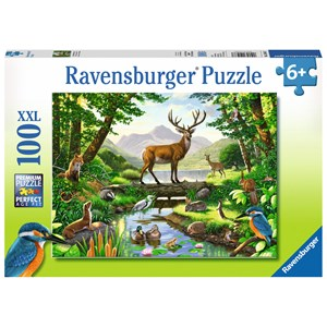 "Ravensburger (10568) - Chris Hiett: ""Woodland Harmony"" - 100 piezas"