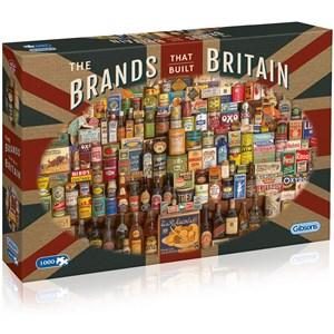 """Gibsons (G7073) - Robert Opie: """"The Brands That Build Britain"""" - 1000 piezas"""