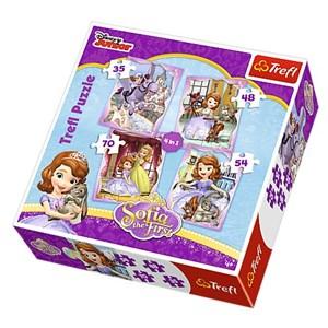 """Trefl (34247) - """"Sofia the First"""" - 35 48 54 70 piezas"""