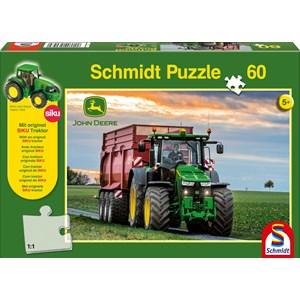 """Schmidt Spiele (56043) - """"John Deere Tractor 8370R"""" - 60 piezas"""