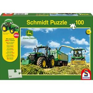 """Schmidt Spiele (56044) - """"John Deere, 7310R"""" - 100 piezas"""