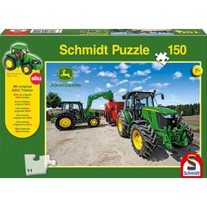 """Schmidt Spiele (56045) - """"John Deere, Tractor 5M Serie"""" - 150 piezas"""