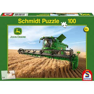"""Schmidt Spiele (56144) - """"John Deere, Harvester S690"""" - 100 piezas"""
