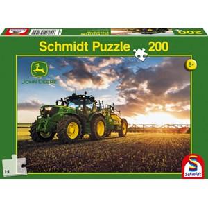 """Schmidt Spiele (56145) - """"Tractor John Deer 6150R"""" - 200 piezas"""