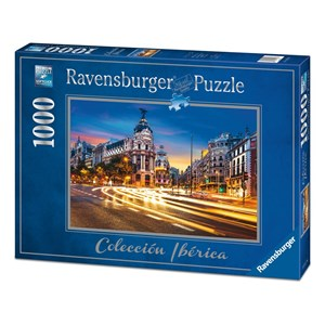"""Ravensburger (19618) - """"Gran Vía, Madrid"""" - 1000 piezas"""