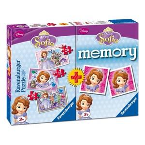 "Ravensburger (07358) - ""Sofia + Memory"" - 15 20 25 piezas"