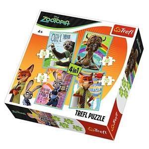 "Trefl (34258) - ""Zootopia"" - 35 48 54 70 piezas"