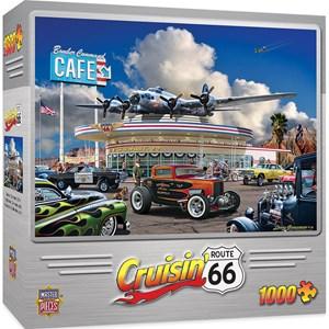"""MasterPieces (71735) - Larry Grossman: """"Bomber Command Café"""" - 1000 piezas"""