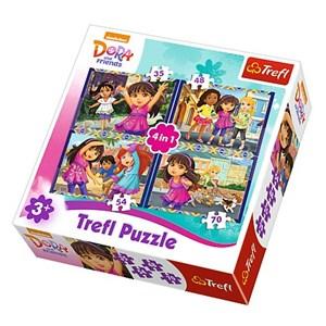 "Trefl (34265) - ""Dora"" - 35 48 54 70 piezas"