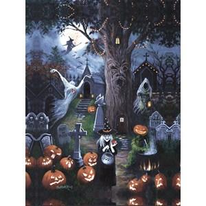 """SunsOut (45402) - Susan Rios: """"Halloween Night"""" - 300 piezas"""