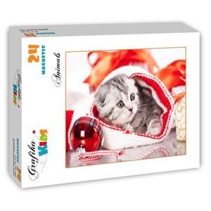 "Grafika Kids (01129) - ""Christmas Kitten"" - 24 piezas"