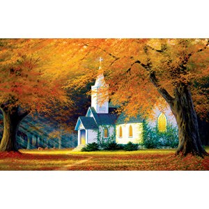 """SunsOut (48560) - Charles White: """"Church in the Glen"""" - 550 piezas"""