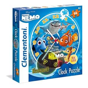 """Clementoni (23022) - """"Puzzle Clock, Nemo and Dory"""" - 96 piezas"""