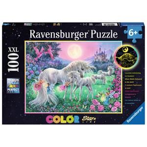 "Ravensburger (13670) - ""Unicorns in the Moonlight"" - 100 piezas"