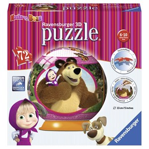 "Ravensburger (12178) - ""Masha and the Bear"" - 72 piezas"