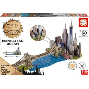 "Educa (17000) - ""Brooklyn Bridge, Manhattan Dream"" - 160 piezas"