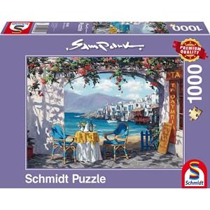 """Schmidt Spiele (59396) - Sam Park: """"Rendez-vous at Mykonos"""" - 1000 piezas"""