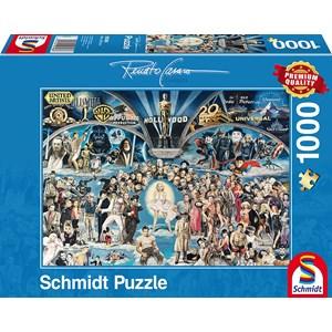 "Schmidt Spiele (59398) - Renato Casaro: ""Hollywood"" - 1000 piezas"