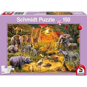 "Schmidt Spiele (56195) - ""Animals of Africa"" - 150 piezas"