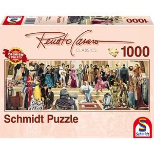 """Schmidt Spiele (59381) - Renato Casaro: """"100 Years of Film"""" - 1000 piezas"""